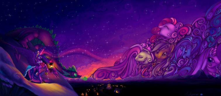 Обои Фан арт к мультфильму Дружба это чудо / My Little Pony: Friendship Is Magic / автор sakuyamon