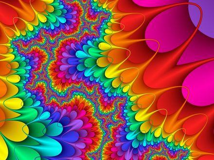 Обои Узоры разных цветов
