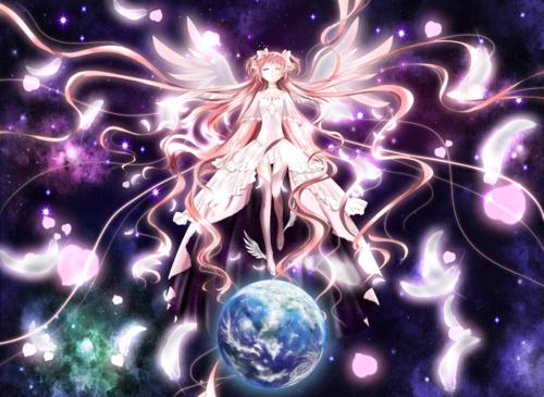 картинки аниме девочка волшебница мадока: