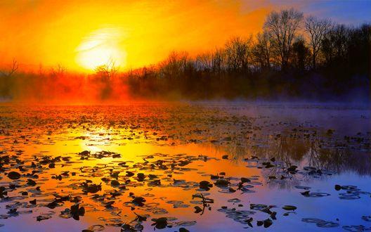Картинки по запросу картинки анимации реки в тумане