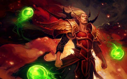 Обои Кельтас Солнечный Скиталец / арт к игре World Of Warcraft