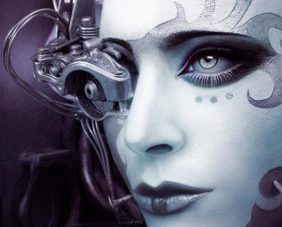 Обои Девушка-робот, автор Oliver Wetter