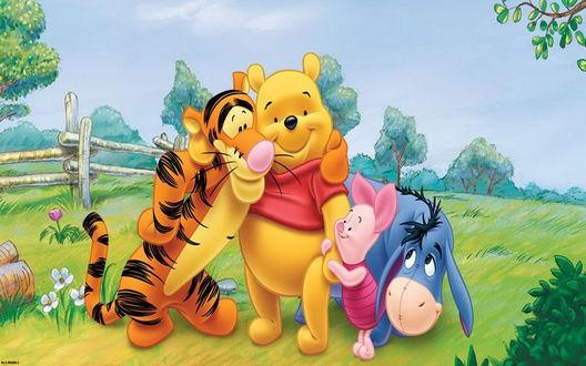 Обои Винни-Пух /. Winnie-the-Pooh и его друзья на поляне