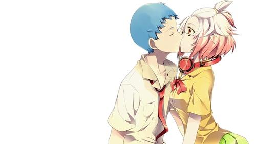 картинки аниме целуются: