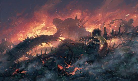 Обои Арт по аниме Небесный замок Лапута / Tenku no shiro Rapyuta