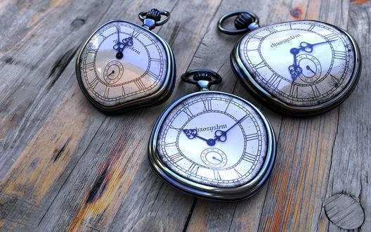 Обои Помятые, сломанные часы (rhaosystem)