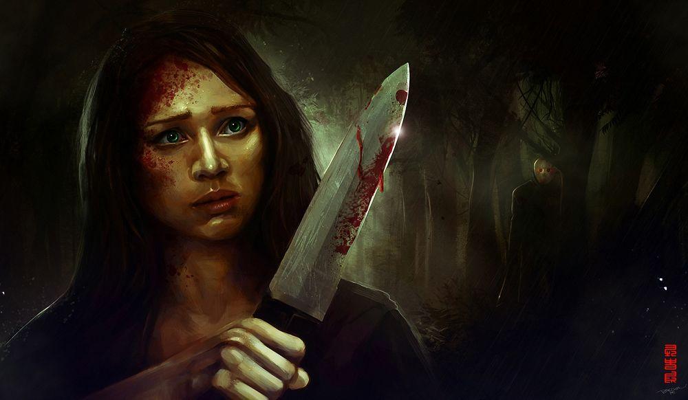 Фото Обои Голой Девушки С Ножом