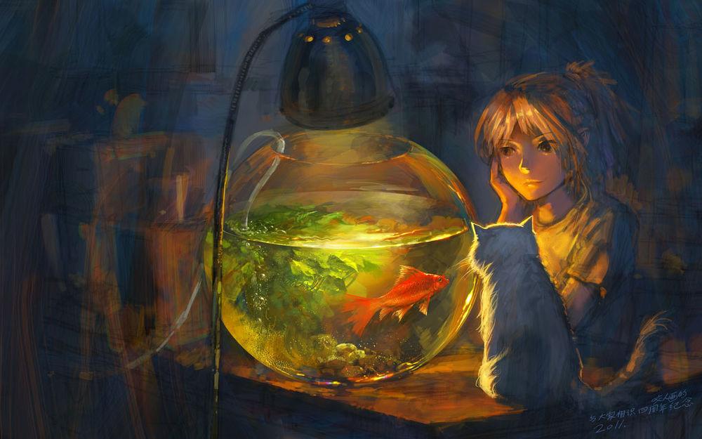 Аквариумные рыбки арты
