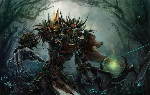 Обои Отрекшийся охотник с луком в руках / арт к игре World Of Warcraft