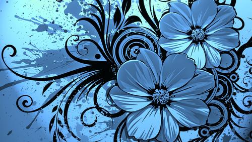 Узоры цветы