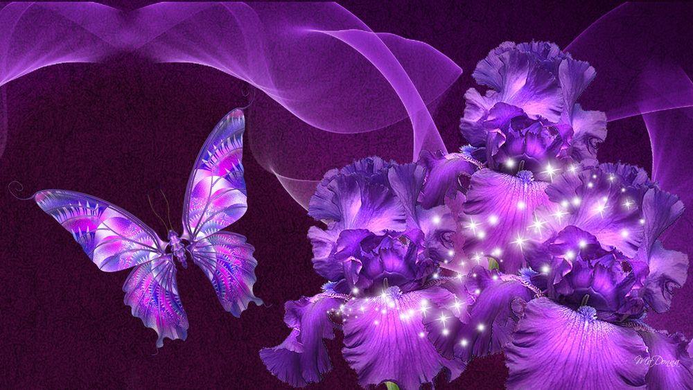 Как, картинки анимации цветы с бабочками