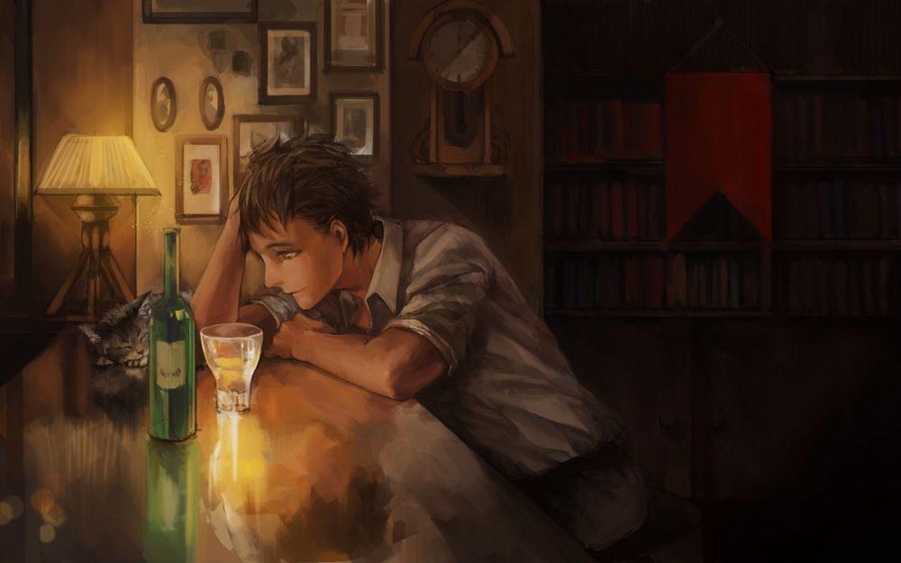 Картинки по запросу мужчина сидит спиной за столом