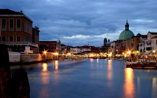 Обои Большой канал в вечерней Венеции, Италия / Venesia, Italy