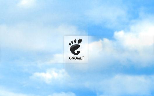Обои Логотип GNOME на фоне неба
