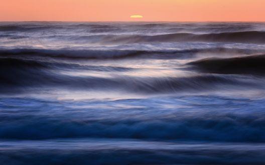 Обои Океан в вечернее время суток, США, Калифорния / USA, California