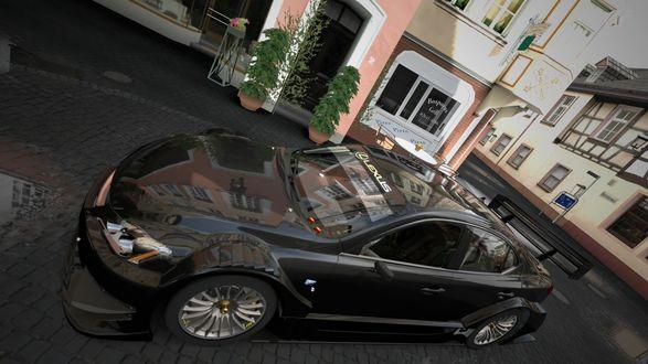 Обои Lexus IS F / Лексус на улице Арвайлер в городе Bad Neuenahr-Ahrweiler / Бад-Нойенар-Арвайлер, Germany / Германия