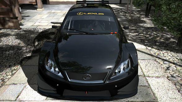 Обои Черный Lexus IS F / Лексус в Серэн-ин, Kyoto / Киото, Japan / Япония