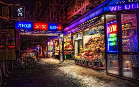 Обои Район Ист Виллидж в Манхэттене / East Village, New York City
