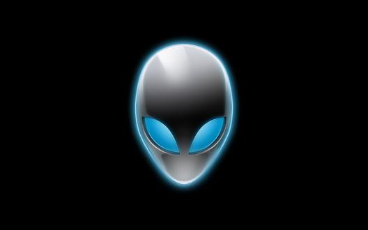 Обои Логотип Alien на черном фоне