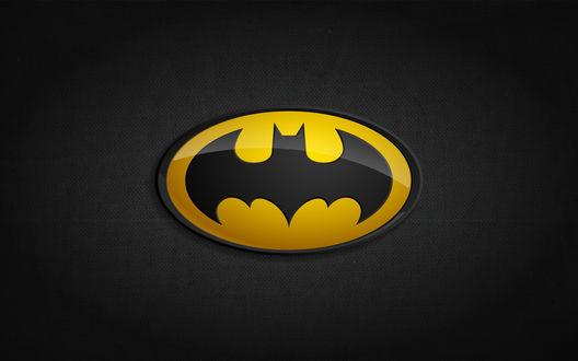 Обои Логотип Batman на темном фоне