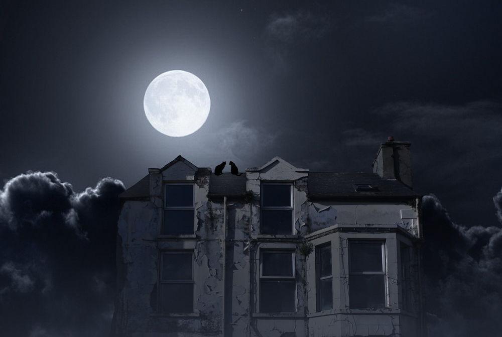 картинки ночь крыша луна тебе то