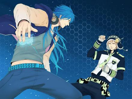 Обои Аоба / Aoba и Ноиз / Noiz из игры DRAMAtical Murder