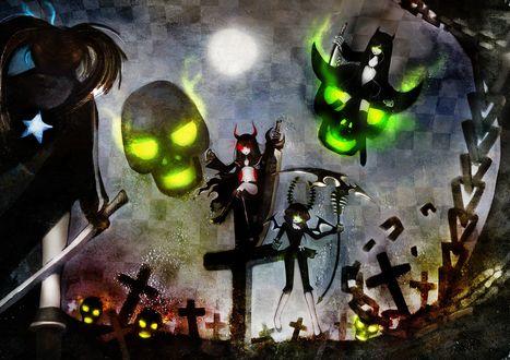 Обои Персонажи аниме Стрелок с Черной Скалы / Черный Стрелок Рока / Black Rock Shooter