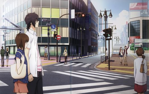 Обои Tachibana Mei / Татибана Мей и Yamato Kurosawa / Ямато Куросава из аниме Скажи Я люблю тебя / Suki-tte Ii na yo, художник Hazuki Kanae