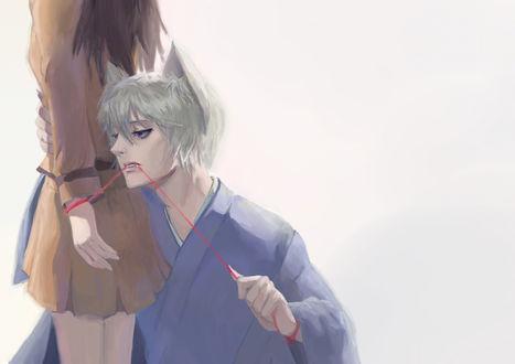 Обои Томоэ / Tomoe и Нанами Момодзоно / Nanami Momodzono из аниме Очень приятно, Бог / Kamisama Hajimemashita