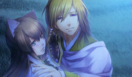 Обои Chouryou & Kanu из игры Jyuzaengi ~Engetsu Sangokuden~/ Исторический роман Тринадцатого Зодиака. Сказание о Полумесяце Троецарствия