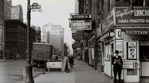Обои Улица Нью-Йорка / New York City в 1940 году