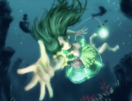 Обои Alice / Алиса из игры American McGees Alice: Madness Returns под водой