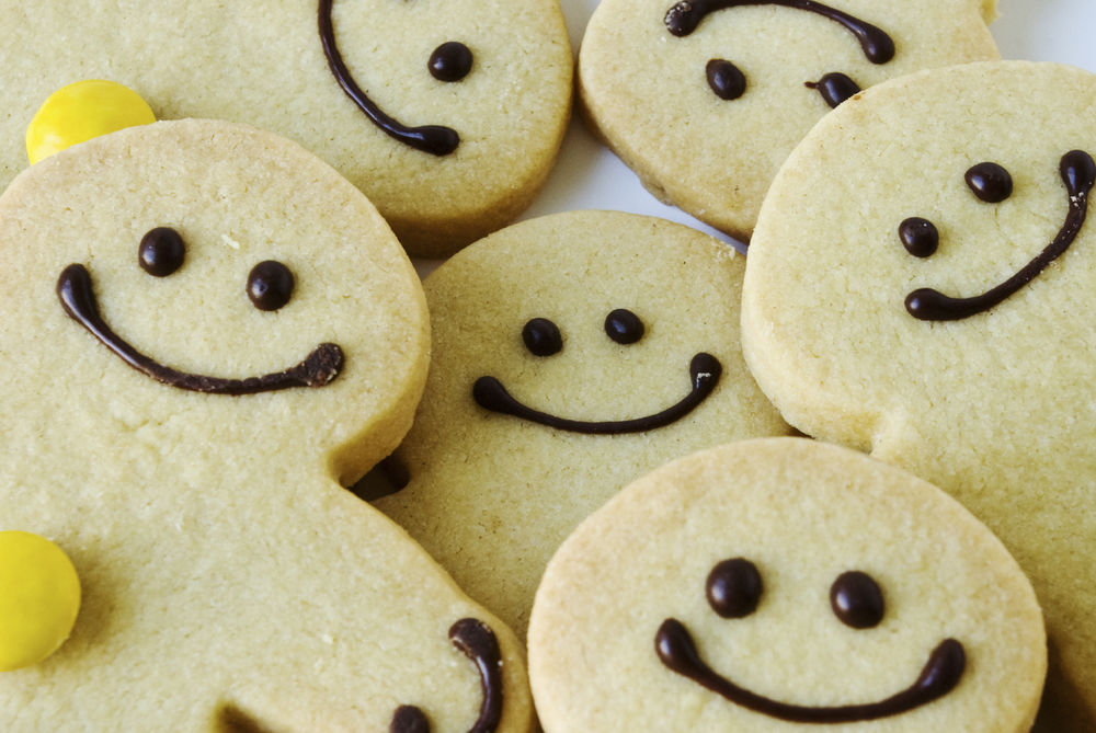 Картинка смешного печенья