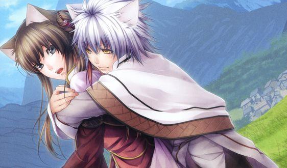 Обои Kanu & Ryuubi из игры Jyuzaengi ~Engetsu Sangokuden~/ Исторический роман Тринадцатого Зодиака. Сказание о Полумесяце Троецарствия