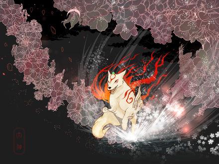 Обои Amaterasu / Аматерасу из игры Okami