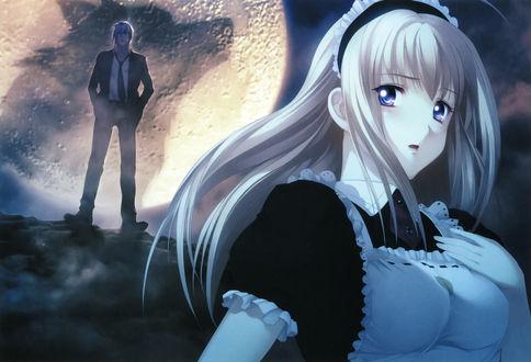 Обои Anna / Анна и Romeo / Ромео из игры и аниме Gekkou no Carnevale / Танец лунного света