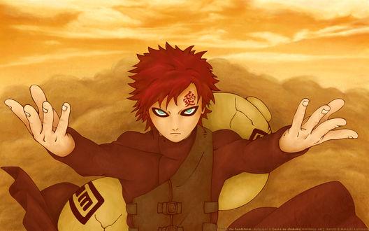 Обои Гаара Пустыни / Gaara of the desert, персонаж из аниме Naruto / Наруто