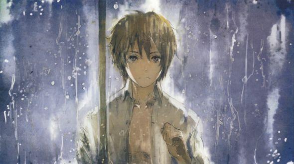 Обои Shion / Шион из аниме Шестая зона / No. 6 под дождем, художник Humi