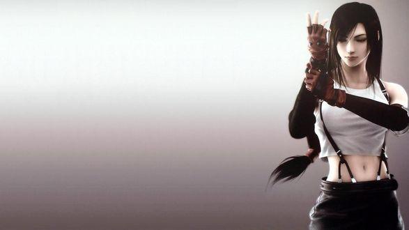 Обои Тифа Локхарт / Tifa Lockhart из аниме- игры Final Fantasy 7 / Последняя фантазия 7