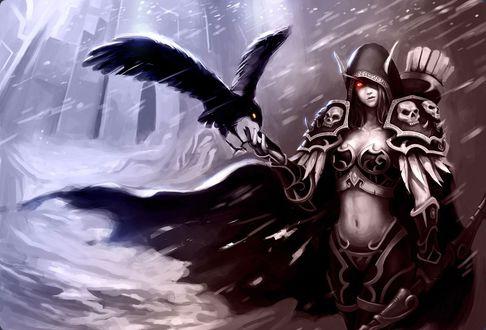 Обои Сильвана Ветрокрылая / Sylvanas Windrunner из игры World of Warcraft