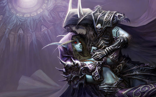 Обои Sylvanas Windrunner / Сильвана Ветрокрылая и Нежить / Undead из игры World of Warcraft