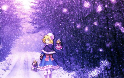 Обои Alice Margatroid / Алиса Маргатроид из игры Проект Восток / Touhou Project