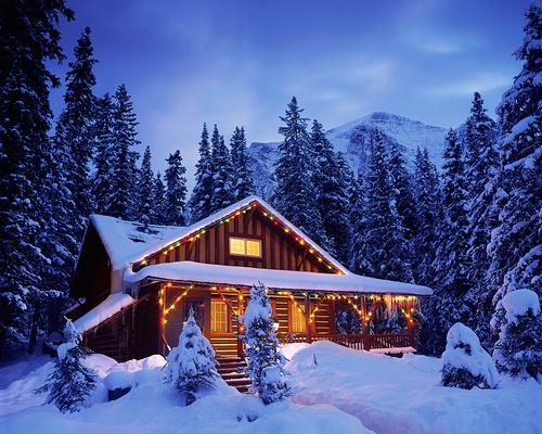 Картинки по запросу дом в лесу зимой
