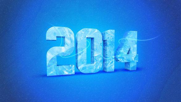 Обои Цифра 2014 как символ нового года