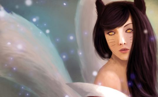 Обои Девушка-лисица / Ahri / Ари, персонаж из игры League of Legends / Лига Легенд