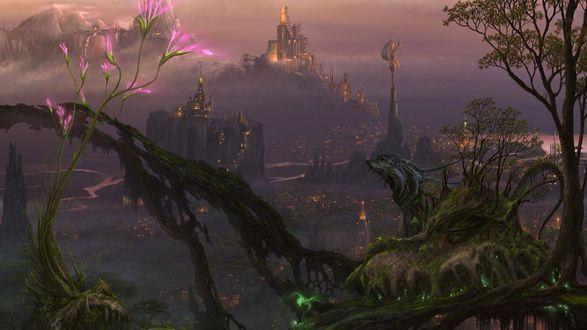 Обои Вечерние огни сказочного города