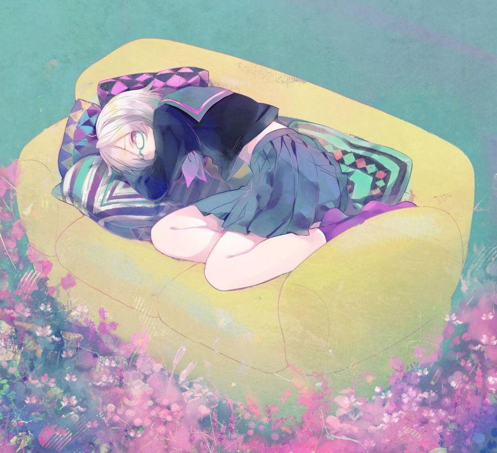 Аниме картинки спящих девушек