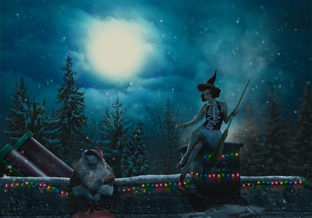 младшего новогодние ведьмочки картинки оно жило