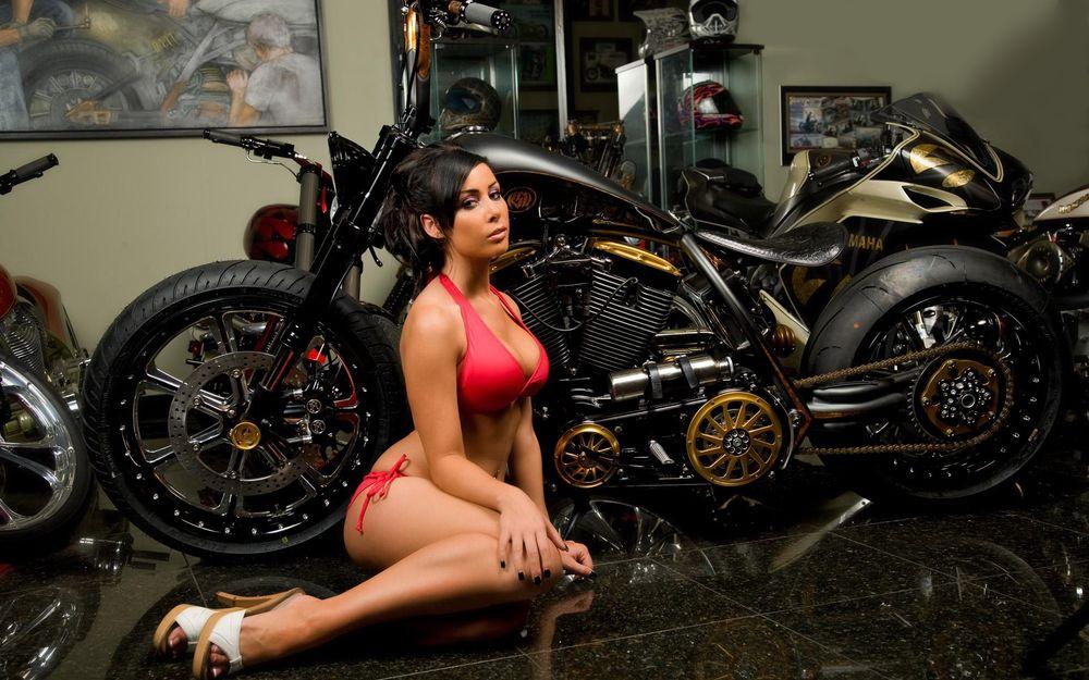 Hot and sexy girls on stylish bike HD wallpaper images