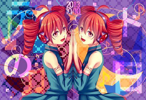 Обои Kasane Teto / Касане Тето из игры UTAU